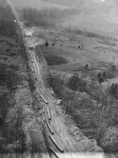 Gulf Interstate Gas Co. Laying Pipe to Be Used in Natural Gas Pipeline Stretching from LA to WV--Photographic Print