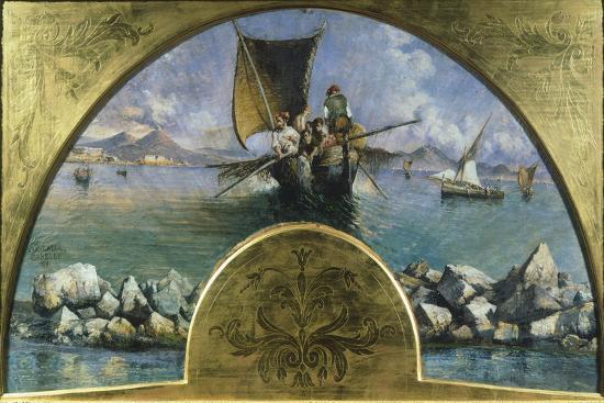 Gulf of Naples, 1891-Gonsalvo Corelli-Giclee Print