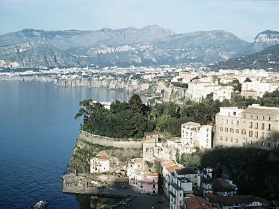 Gulf of Naples Italy Overlooking Sorrento and Nearby Mountains--Photographic Print