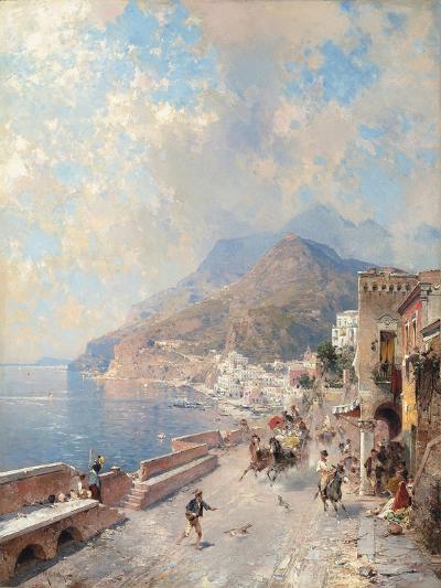 Gulf of Salerno, Amalfi-Franz Richard Unterberger-Giclee Print