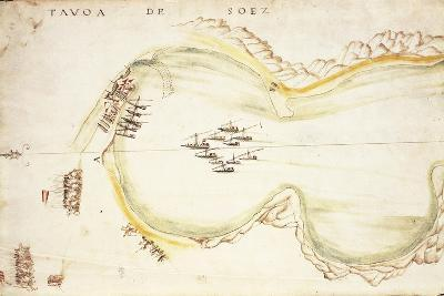 Gulf of Suez, Egypt, from Nautical Charts by Joao De Castro, 1538--Giclee Print