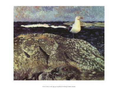 Gull at Nest, 1913-Bruno Liljefors-Art Print