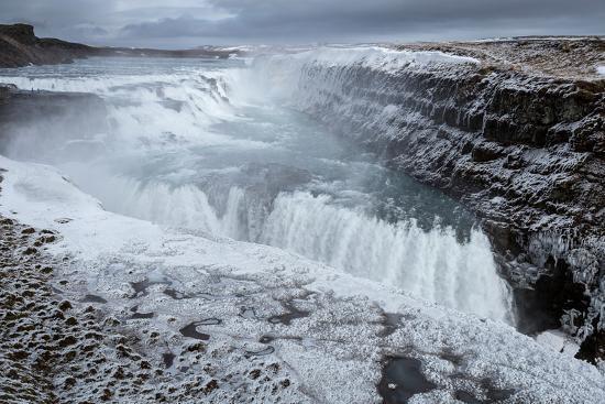 Gullfoss Waterfall, (Golden Falls), Iceland--Photographic Print