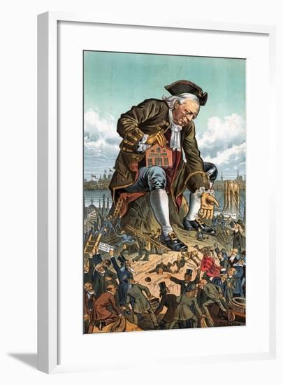 Gulliver and the Party Lilliputians, 1885-Bernard Gillam-Framed Giclee Print