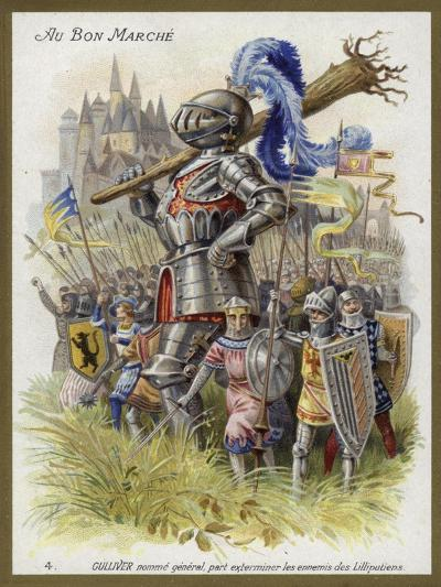 Gulliver, Appointed General, Sets Out to Exterminate the Enemies of the Lilliputians--Giclee Print