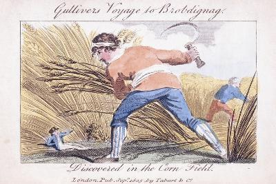 Gulliver's Voyage to Brobdignag, Discovered in the Corn Field, 1805--Giclee Print