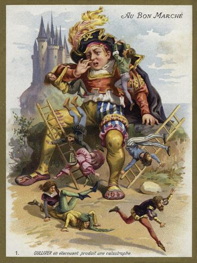 Gulliver Sneezes and Causes a Catastrophe--Giclee Print