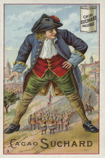Gulliver with the Lilliputian Army--Giclee Print