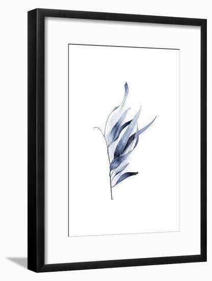 Gum Leaves Navy-Urban Epiphany-Framed Art Print