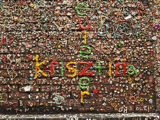 Gum Wall at Pike's Place Market in Seattle, Washington, Usa-Michele Westmorland-Photographic Print