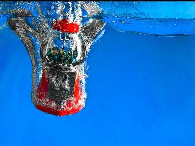 Gumball Machine Dropping into Water-EvanTravels-Photographic Print