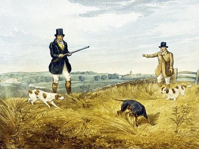 Gun and Loader, Plate from 'Partridge Shooting', Engraved by Joseph Clayton Bentley (1809-51) 1794-Henry Thomas Alken-Giclee Print