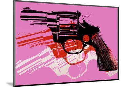 Gun, c.1981-82-Andy Warhol-Mounted Print
