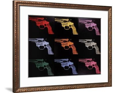 Gun, c.1982 (many/rainbow)-Andy Warhol-Framed Giclee Print