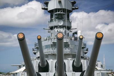 Gun Turret on the Battleship Missouri-Jon Hicks-Photographic Print