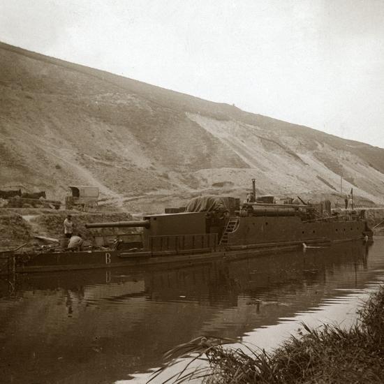Gunboat, Genicourt, northern France, c1914-c1918-Unknown-Photographic Print