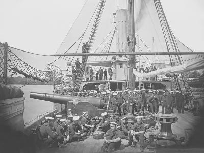 Gunboat Uss Mendota on James River During the American Civil War-Stocktrek Images-Photographic Print