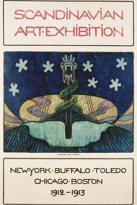 Scandinavian Art Exhibition: 1912-1913 Poster by Gunnar August Hallstrom