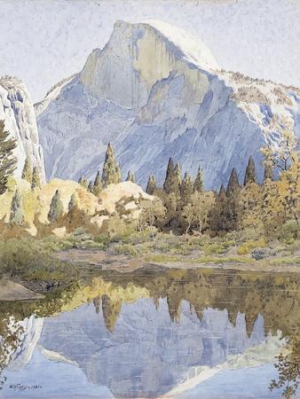 Half Dome and Mirror Lake, 1921