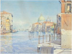The Gran Canal, Venice, with the Santa Maria Della Salute, 1910 by Gunnar Widforss
