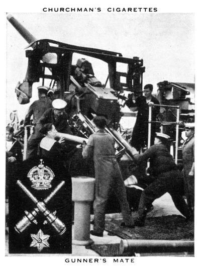 Gunner's Mate, 1937- WA & AC Churchman-Giclee Print