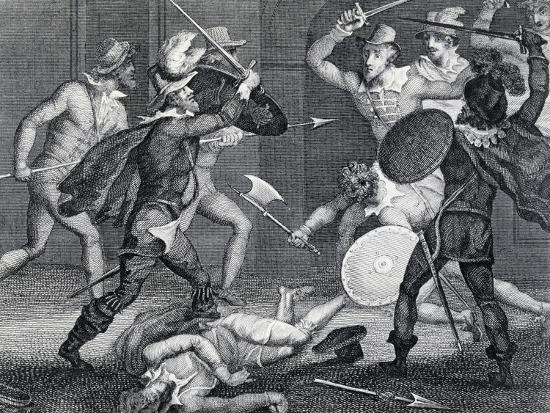 Gunpowder Plot, Plot Designed by Group of English Catholics Against King James I of England--Giclee Print