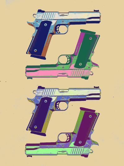 Guns Amber Pop Art Poster--Art Print