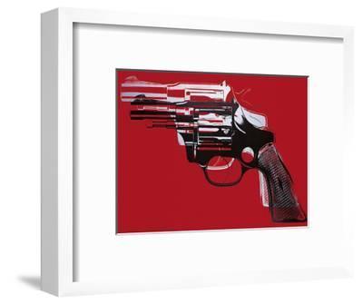 Guns, c.1981-82 (White and Black on Red)-Andy Warhol-Framed Giclee Print