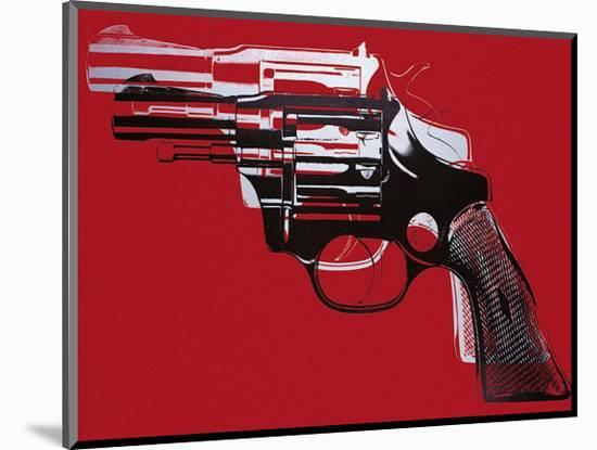 Guns, c.1981-82 (White and Black on Red)-Andy Warhol-Mounted Giclee Print