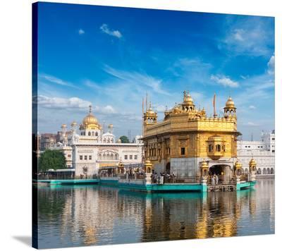 Gurdwara Temple Amritsar-India--Stretched Canvas Print