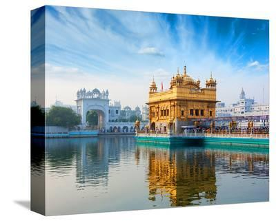 Gurdwara Temple Amritsar-India--Stretched Canvas Print
