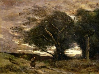 Gust of Wind, 1866-Jean-Baptiste-Camille Corot-Giclee Print