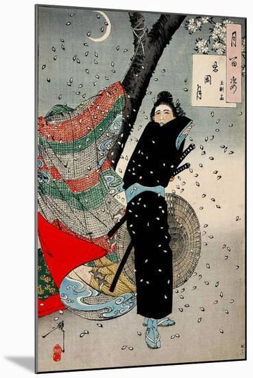 Gust of Wind, One Hundred Aspects of the Moon-Yoshitoshi Tsukioka-Mounted Giclee Print