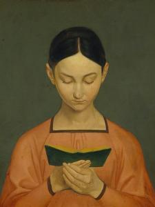 Reading Girl, C. 1828 by Gustav Adolph Hennig