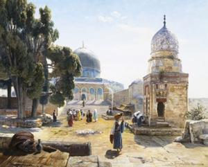 The Dome of the Rock, Jerusalem, Israel by Gustav Bauernfeind