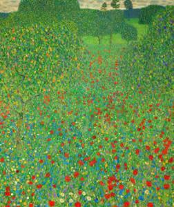 A Field of Poppies, 1907 by Gustav Klimt