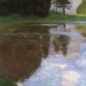 A Morning by the Pond by Gustav Klimt