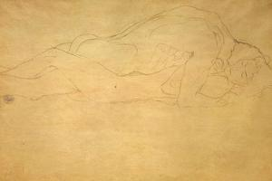 A Pair of Lovers Seen from the Right, 1908 by Gustav Klimt