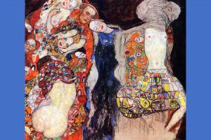 Adorn The Bride with Veil and Wreath by Gustav Klimt