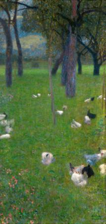 After the Rain (Garden with Chickens in St. Agath), 1898 by Gustav Klimt