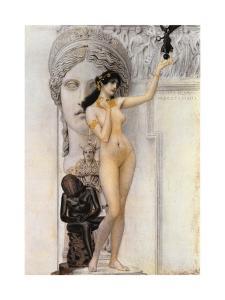 Allegory of Sculpture by Gustav Klimt