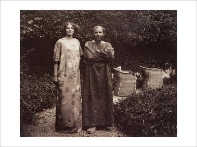 Gustav Klimt and Emilie in the Garden--Giclee Print