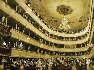 Auditorium in the Altes Burgtheater by Gustav Klimt