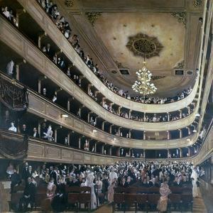 Auditorium in the Old Burgtheater, Vienna, 1888 by Gustav Klimt