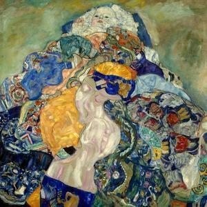 Baby (Cradle). 1917 - 18 by Gustav Klimt
