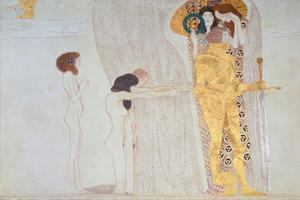 Beethoven-Frieze, 1902: the Longing for Happiness by Gustav Klimt