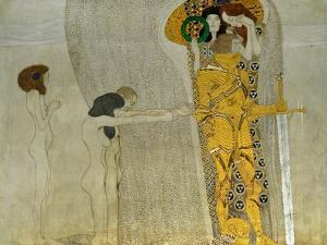 Beethoven Frieze Inspired by Beethoven's 9th Symphony, the Knight in Shining Armour by Gustav Klimt