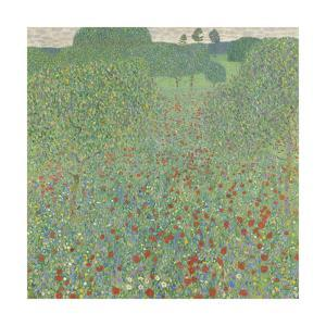 Blooming Poppies by Gustav Klimt