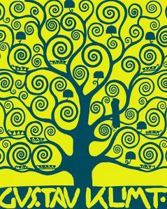 Blue Tree of Life by Gustav Klimt