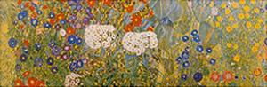 Country Garden with Sunflowers Detail by Gustav Klimt